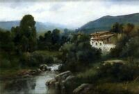 """high quality oil painting 100% handpainted on canvas """"Landscape with House"""""""