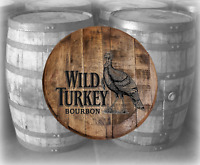 Rustic Home Bar Decor Wild Turkey Bourbon Barrel Lid wood wall art Kentucky