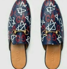 a76a4506c GUCCI Ghost Princetown Stars GG Slipper Loafer Horsebit Size 10.5eu  /11-11.5us