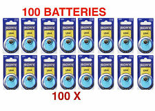 100 x  Sony ALKALINE LR44 Batteries / 357 compatible /  Expires 2015 or later