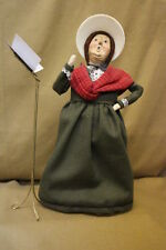 Vintage 1994 Byers' Choice The Carolers Doll Woman w/Hat Figurine & Music Stand
