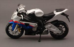 BMW S1000 RR White Moto 1:12 Model 10042W Maisto