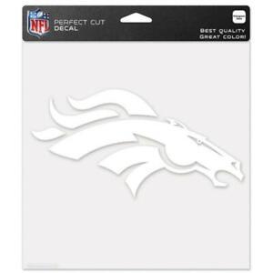 """Denver Broncos 8""""x8"""" White Auto Decal [NEW] NFL Car Sticker Emblem Truck"""