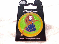 Disney * YOUNG PRINCESS MERIDA * BRAVE * SPARKLE GREEN * New on Card Trading Pin