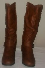 Shoes Of Soul Women's Knee High Boots: Tan - 7