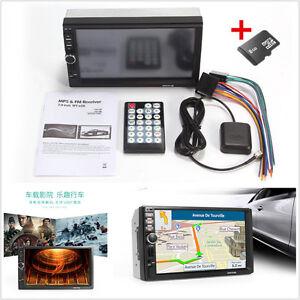 "7"" 7018B HD Touch Car GPS Navigation Bluetooth Video Player 8G Europe Map Card"
