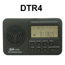 DTR automático registrador de llamada de teléfono de líneas terrestres. WAV de audio digital grabadora de voz