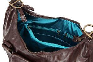 NWT Ju Ju Be BeHave Legacy Collection Brown Teal Shoulder/Tote Bag