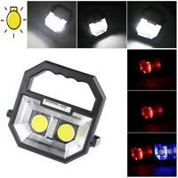 Portable COB LED Rechargeable Work Light Camping Lantern  Lamp Flashing Warning