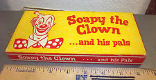 vintage & unusual Soapy the Clown and his pals, set of 3 soaps, great graphics
