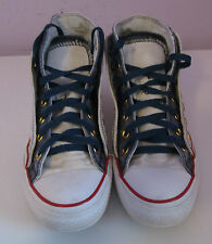 VTG Unisex Chuck Taylor CONVERSE White/Blue Double Layer Hi Top Trainer/Shoe 5