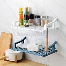 Suction Wall Mount Storage Rack Holder Shelves Bathroom Kitchen Organizer Shower