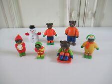🏁 Lot De 7 Figurines Petit Ours Brun Daniele Bour Bayard Presse