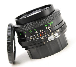 Vivitar 28mm F2.8 Manual Focus MC Wide Angle For Nikon Lens Front & Rear Cap EXC