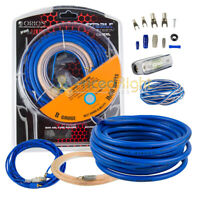 8 Gauge Amp Install Kit 1600W Car Audio Complete Amplifier Installation Cables