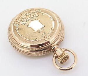 .A Crisp C1885 Waltham Royal 14K Gold 11 Jewel Ladies 8s Pocket Watch - Serviced