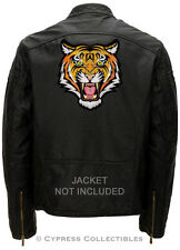 LARGE ROARING TIGER BIKER PATCH iron-on embroidered AFRICAN SAFARI SOUVENIR BIG