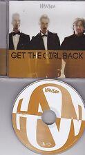 HANSON GET THE GIRL BACK RARE 1 TRACK DJ PROMO CD