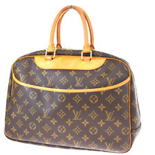 Authentic LOUIS VUITTON Deauville Hand Bag Monogram Leather Brown M47270 89MF621