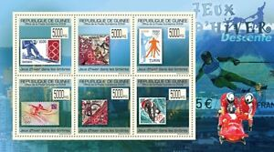 Winter Olympic Games on Stamps (France USA) Guinea 2009 Mi 7100-05 MNH #GU0967a