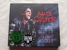 "ALICE COOPER-"" RAISE THE DEAD- LIVE FROM WACKEN"" 2 x CD + DVD DIGIPAK"