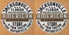2x vintage Motorcycle Pegatina Sticker Biker Chopper estados unidos japón v2 retro m017