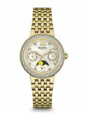 Bulova 98R224 Diamonds Collection Gold-Tone Moon Phase Stainless-Steel Watch