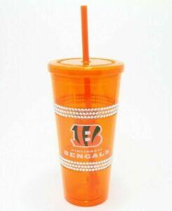 Cincinnati Bengals Tumbler Cup 22oz. Durable - BOELTER NFL BENGALS BLING CUP NEW