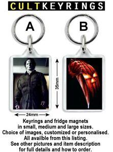 Halloween keyring / fridge magnet - John Carpenter, Michael Myers, Rob Zombie