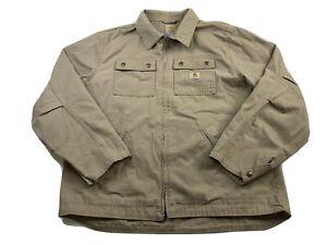 Carhartt 100257 251 Flint Ripstop Beige Jacket Size large workwear mens