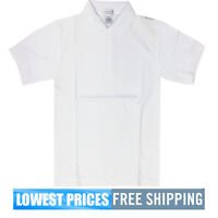 BasicLine Boys NWT White Pique  Polo Shirt School Uniform  $9.99 Free Shipping