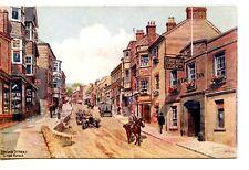 Broad Street-Lyme Regis West Dorset England-Signed Quinton Art-Vintage Postcard