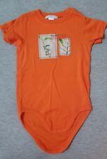 Janie & And Jack Boys Shirt Bodysuit One Piece Orange Frog Cotton 2 2T Euc