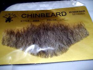 "Chin Beard Human Hair Dark Grey 6 ""Lace Net Backing Professional Theatrical 2023"
