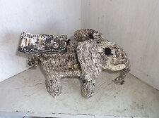 Molo Wool Project Woven & Hand Knit ELEPHANT Plush Animal Kenyan Women