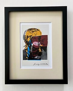 ANDY WARHOL AWESOME 1984 SIGNED POP ART PRINT MATTED 8X10