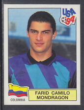 Panini - USA 94 World Cup - # 70 Farid Mondragon - Colombia (Green Back)