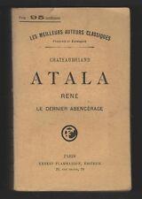 █ Chateaubriand ATALA René Le dernier Abencérage 1909 █