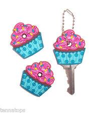 1 Cupcake Key Cover / Key Cap / Key Chain - Cute Car Accessory!