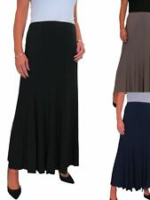 ICE Womens Long Maxi Panel Swing Flare Skirt Soft Stretch Fully Lined 10-22