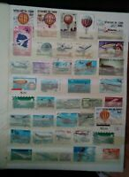 Flugzeuge Lot Briefmarken Sellos Stamps Timbres