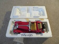 Franklin Mint 1935 Mercedes 500K Special Roadster Red Convertible 1:24 Scale