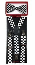 Checker Styl  toddler bow tie and suspenders set - baby boy/girl Accesorries