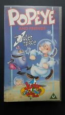 Popeye And Friends In Outer Space VHS Video UK 1991
