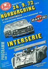 1972 programme Rheinland-Pfalz-price Nürburgring Interserie CAN AM DRM Ford Capri