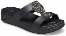crocs Sandale Monterey Diamante Wedge Women Schwarz Croslite Normal Damen