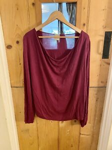 Poetry Plum Thin Knit Top Jumper Size 22 Silk Bamboo Blend Plus