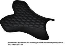 Hex Negro Stitch Custom Fits Yamaha 1000 Yzf R1 04-06 Frontal De Cuero Funda De Asiento