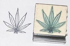 Cannabis Reefer Marijuana Hemp Pot Leaf Outline rubber stamp
