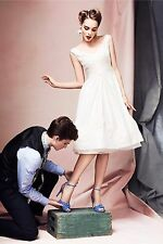 NEW BHLDN Anthropologie Hitherto Silk Duppioni Pinwheel Tea Dress Size 2 $1400.